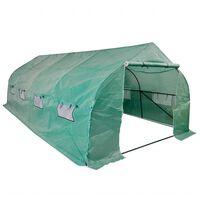 vidaXL Invernadero tienda portátil estructura de acero 18 m²