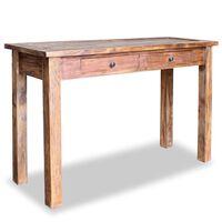 vidaXL Mesa consola de madera maciza reciclada 123x42x75 cm