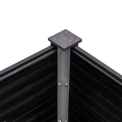 vidaXL Arriate de WPC gris 300x50x91 cm