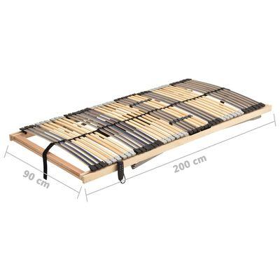 vidaXL Somier de láminas eléctrico 28 láminas 7 regiones 90x200 cm
