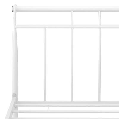 vidaXL Estructura de cama de metal blanca 160x200 cm