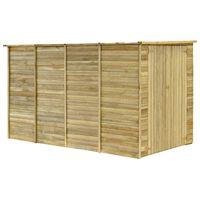 vidaXL Cobertizo para jardín de madera pino impregnada 315x159x178 cm