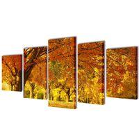 Set decorativo de lienzos para la pared bosque arces 100 x 50 cm