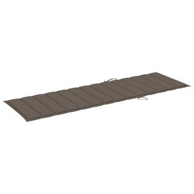 vidaXL Tumbona con cojín gris taupé madera de pino impregnada