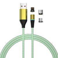 Cable De Carga Con Led Y Enchufe Antipolvo - Microusb / Usb-c / Lightn