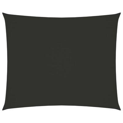 vidaXL Toldo de vela rectangular tela oxford gris antracita 2,5x3,5 m