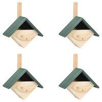 vidaXL Casa para pájaros 4 unidades madera de abeto 24x16x30 cm