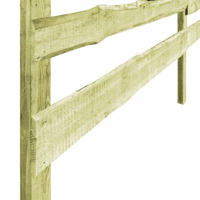 vidaXL Vallas de jardín 3 travesaños 3 uds madera pino 510x120 cm