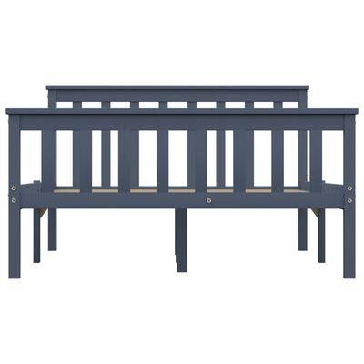 vidaXL Estructura de cama de madera maciza de pino gris 120x200 cm