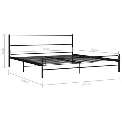 vidaXL Estructura de cama de metal negro 180x200 cm