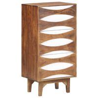 vidaXL Mueble con cajones de madera maciza de acacia 44x35x90 cm
