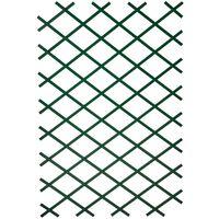 Nature Enrejado de jardín PVC verde 100x200 cm