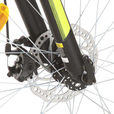 vidaXL Bicicleta de montaña 21 velocidad 27,5 pulgadas rueda 42cm rojo