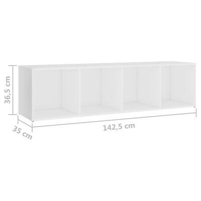 vidaXL Muebles para TV 3 uds aglomerado blanco 142,5x35x36,5 cm