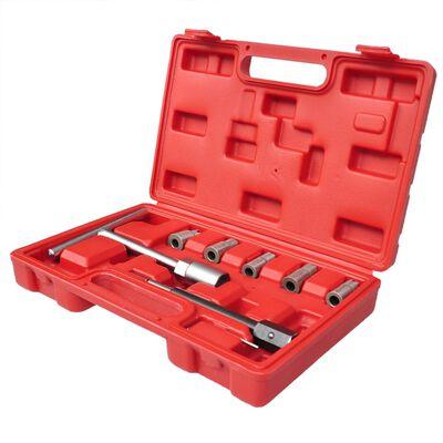 vidaXL Set de cortadores de conjunto de inyector diesel 7 piezas