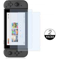 Paquete de 2 protectores de pantalla de vidrio templado para Nintendo