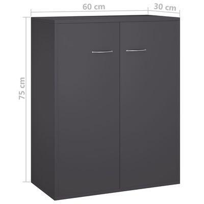 vidaXL Aparador de aglomerado gris 60x30x75 cm
