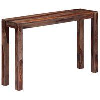 vidaXL Mesa consola 120x30x76 cm madera maciza de sheesham gris