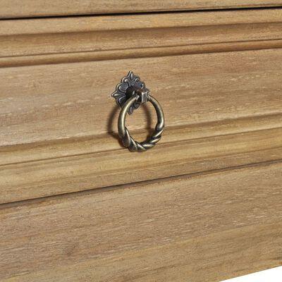 vidaXL Mesa de centro con cajón madera de pino Mexico