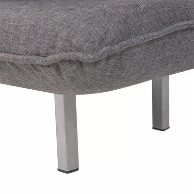 vidaXL Silla giratoria y sofá cama tela gris oscuro