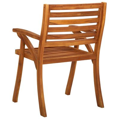vidaXL Juego de comedor para jardín 7 piezas madera maciza de acacia