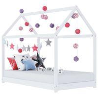 vidaXL Estructura de cama infantil madera maciza pino blanco 70x140 cm