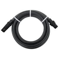 vidaXL Manguera de succión con conectores PVC 4 m 22 mm negra