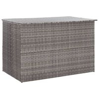 vidaXL Caja de almacenaje jardín ratán sintético gris 150x100x100 cm