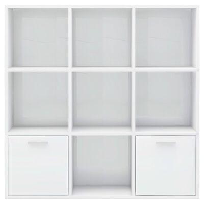 vidaXL Estantería de aglomerado blanco brillante 98x30x98 cm
