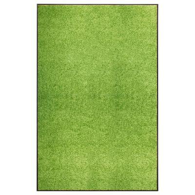 vidaXL Felpudo lavable verde 120x180 cm