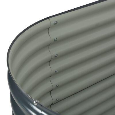 vidaXL Arriate de acero galvanizado gris 160x80x81 cm