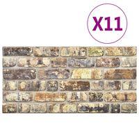 vidaXL Paneles de pared 3D diseño de ladrillo multicolor 11 piezas EPS