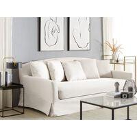 Funda de sofá 3 plazas blanca GILJA