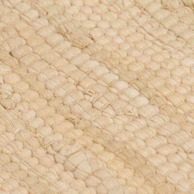 vidaXL Alfombra tejida a mano Chindi de algodón crema 80x160 cm