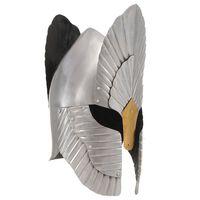 vidaXL Réplica de casco de caballero medieval fantasía LARP acero plateado