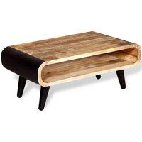 vidaXL Mesa de centro de madera de mango rugosa 90x55x39 cm