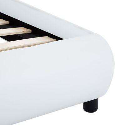 vidaXL Estructura de cama de cuero sintético blanco 120x200 cm