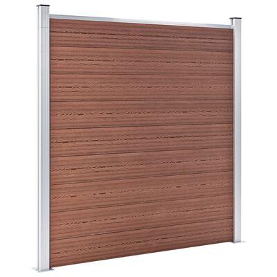 vidaXL Valla de jardín de WPC marrón 1391x186 cm