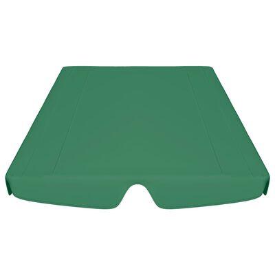 vidaXL Dosel de repuesto columpio de jardín verde 188/168x110/145 cm