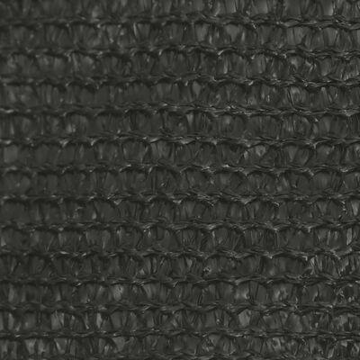 vidaXL Toldo de vela HDPE gris antracita 160 g/m² 3x3x3 m