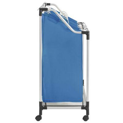 vidaXL Separador de colada con 4 bolsas acero azul