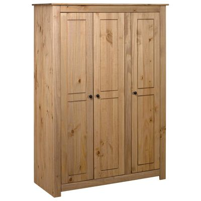 vidaXL Armario de 3 puertas madera pino Panamá Range 118x50x171,5 cm