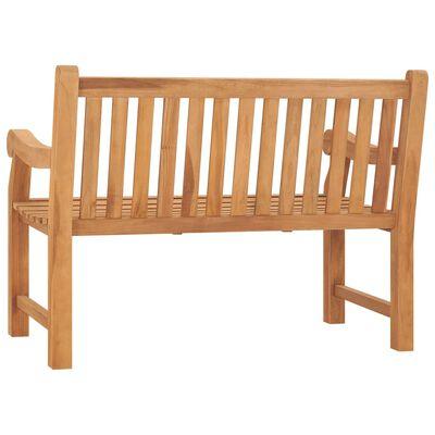 vidaXL Banco de jardín madera maciza de teca con cojín 120 cm