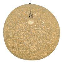vidaXL Lámpara colgante esférica color crema E27 55 cm