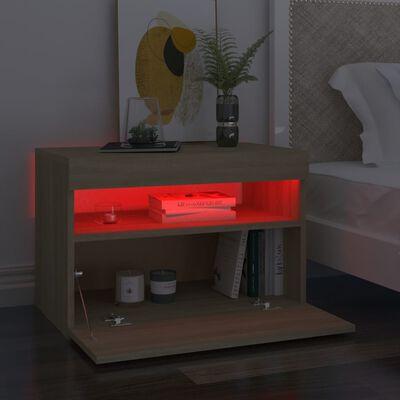 vidaXL Armario TV con luces LED roble Sonoma 60x35x40 cm