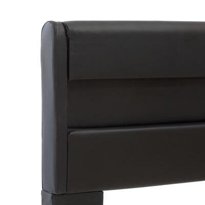 vidaXL Estructura de cama con LED cuero sintético negro 90x200 cm