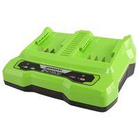 Greenworks Cargador doble ranura 24 V 4 A