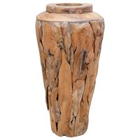vidaXL Jarrón decorativo de madera maciza de teca 40x60 cm