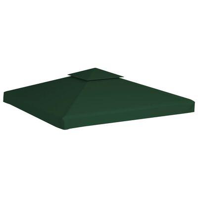 vidaXL Cubierta de repuesto de cenador 310 g/m² verde 3x3 m