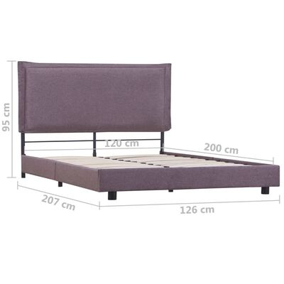 vidaXL Estructura de cama de tela gris topo 120x200 cm